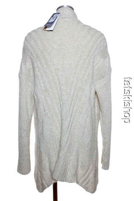 Eileen Fisher Mohair Blend Open-front Long Sweater Cardigan