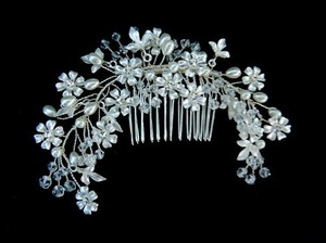 Silver Gold Wire Tiara Clip Crystal Wreath Wire Clip Twisted Wire Tiara Crystal Crown Crystal Tiara Hair Accessory