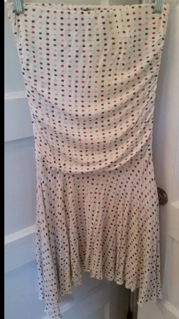 Body Central short dress white/polka dot on Tradesy