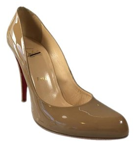 Christian Louboutin Decollete 100mm Dark Beige Pumps