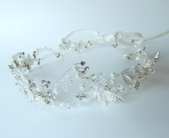 Silver Wire Tiara Crystal Hair Wreath Wire Bridal Crown Wire Wedding Tiara Twisted Wire Tiara Crystal Crown Crystal
