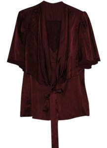 BCBGMAXAZRIA Top burgundy