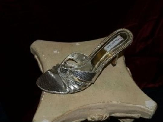 Dyeables Silver Open Toes Size US 8 Regular (M, B) Image 2
