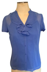 East 5th Essentials Purple Chiffon Workwear Pleat Top Periwinkle