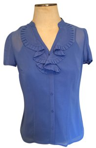 East 5th Essentials Purple Chiffon Top Periwinkle
