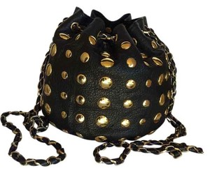 deux lux Bucket Chain Studded Shoulder Bag