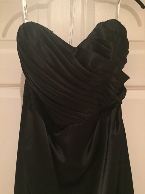 Demetrios Strapless Gown Gown Ruched Waist Pleated Bodice Dress Image 1
