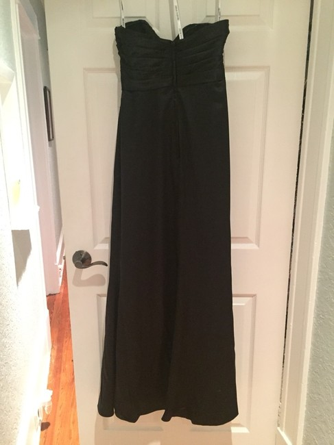 Demetrios Strapless Gown Gown Ruched Waist Pleated Bodice Dress Image 2