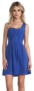 Rebecca Taylor Silk One Shoulder Dress