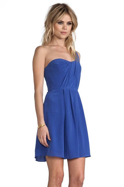 Rebecca Taylor Silk One Shoulder Draped Details New With Tag Dress