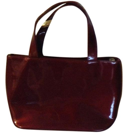 Other Tote in shiny maroon