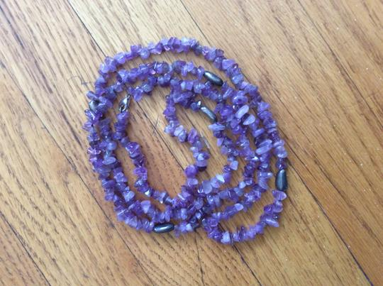 Coldwater Creek Genuine Amethyst Stone Necklace, Sterling Silver