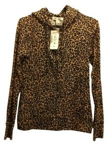 Active Basic Leopard Print Hoodie