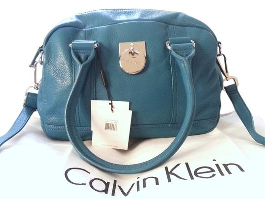 Preload https://item2.tradesy.com/images/calvin-klein-new-slate-turquoise-leather-satchel-4666096-0-0.jpg?width=440&height=440