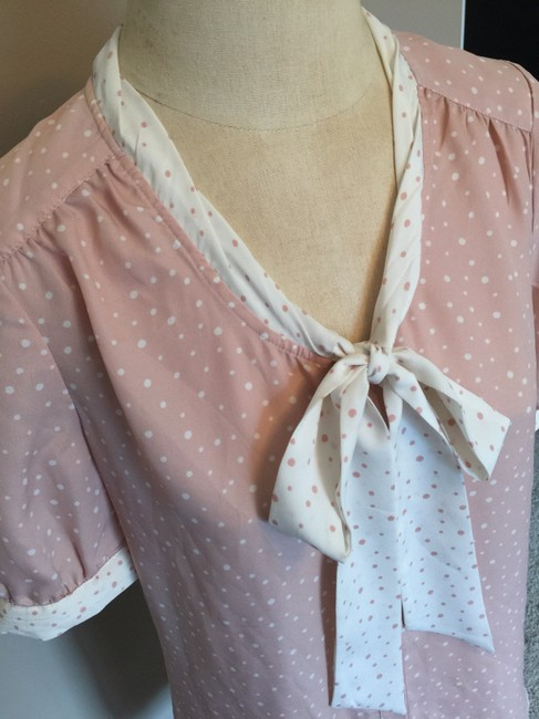 Jason Wu for Target Polka Dot Tie Necktie Top Pink and White
