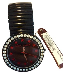 Betsey Johnson Betsy,Johnson,Black,Stainless,Steel,Watch