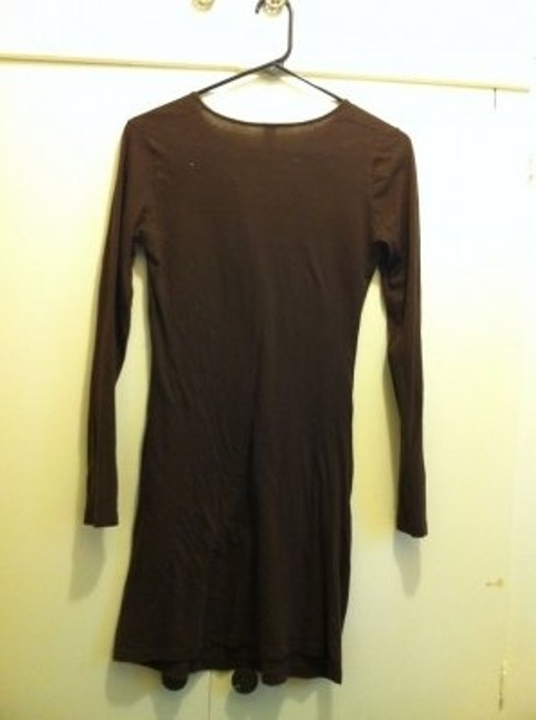 American Apparel short dress Brown on Tradesy