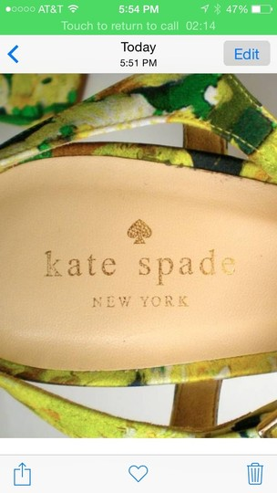 Kate Spade Yellow Floral Multi Yellow Sandals