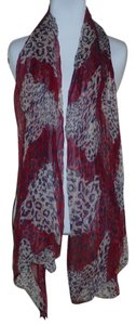 Other Sheer Leopard Print Scarf