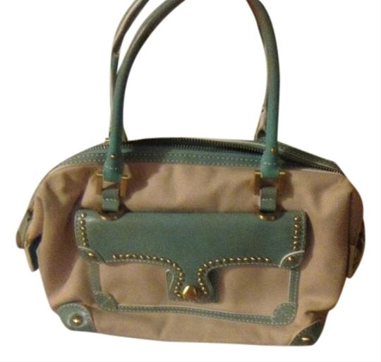 Maxx New York Satchel in cream and light green