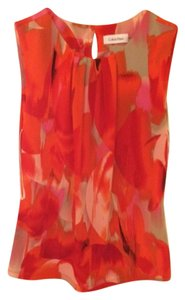 Calvin Klein Top Multi color - Red/White/Orange