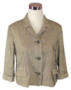Ter Et Bantine Linen Cotton Silk 3/4 Sleeve Gray Blazer