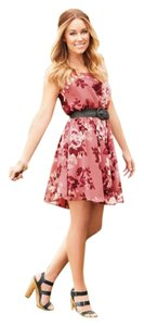 LC Lauren Conrad Floral Chiffon Party Dress