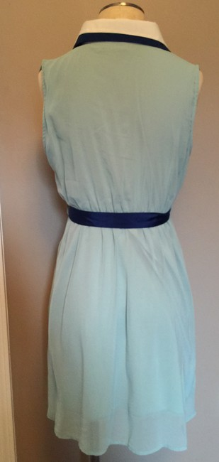Ya Los Angeles short dress Blues and White Summer Seafoam Navy Teal Green Belted Bow on Tradesy
