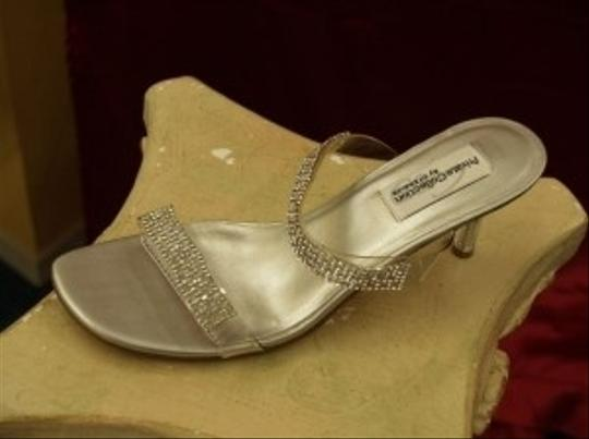 Silver Passion Rhinestone Crystals Bling See Thru Clear Super Sexy Short Heel Open Toe Dance Prom Formal Special Size US 8 Regular (M, B)