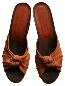 Donald J. Pliner Orange Wedges