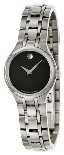 Movado Luxury Movado Watch Womens Collection Classic Black Dial 26mm Steel
