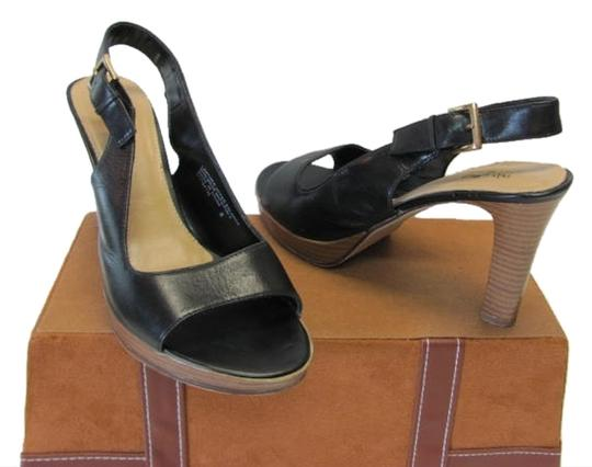 Mossimo Supply Co. Good Condition Leather Size 8.00 black Platforms
