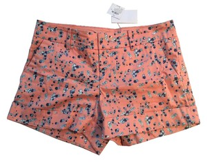 Club Monaco Mini/Short Shorts Pink with Blue Flowers