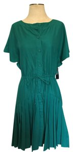 New York & Company short dress Green Pleats Kelly Nyc on Tradesy
