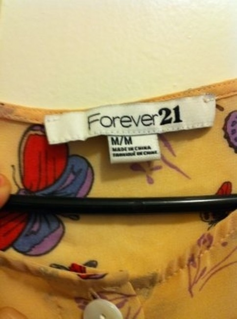 Forever 21 Button Down Shirt Multicolor