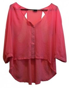 Sparkle & Fade Button Down Shirt Pink