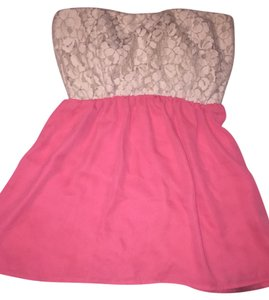 Cantata Top Pink and white