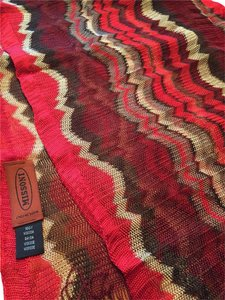 Missoni Red Burgundy Beige Taupe Missoni Scarf