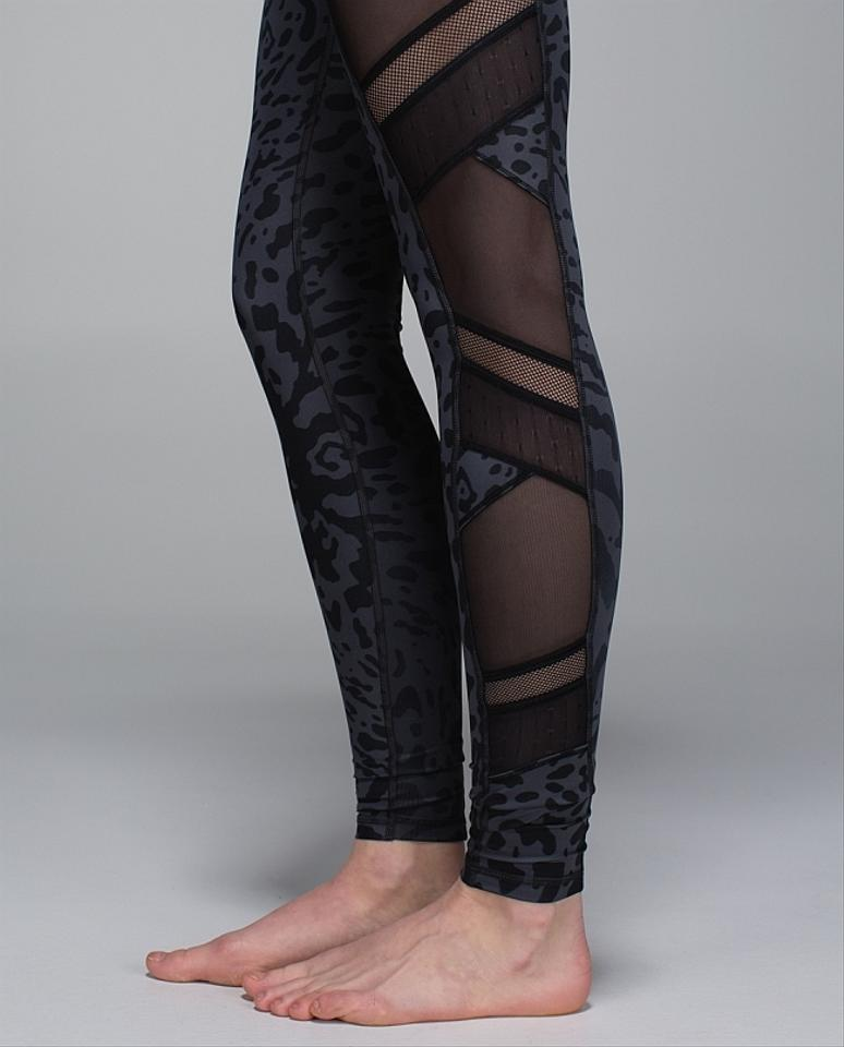 30b42739d Lululemon New Just Breathe Animal Swirl Leopard Mesh Cut-outs Yoga ...