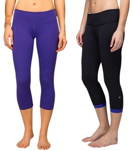Lululemon Lulu Active Cropped Capris Purple