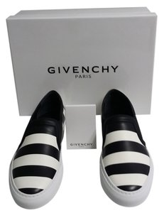 Givenchy Black & White Stripe Flats