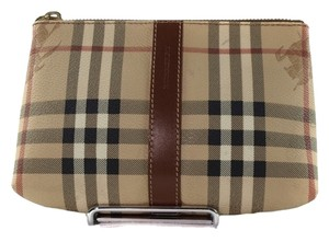 108aacdf539d Burberry London Pvc Canvas Leather Pouch Accessories Brown