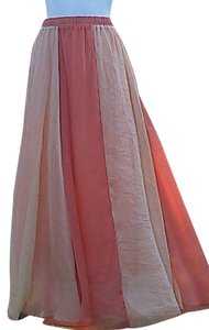 Other W/O Tag Chiffon Maxi Skirt 2 Tone Color
