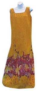 Orange/ FLoral Maxi Dress by