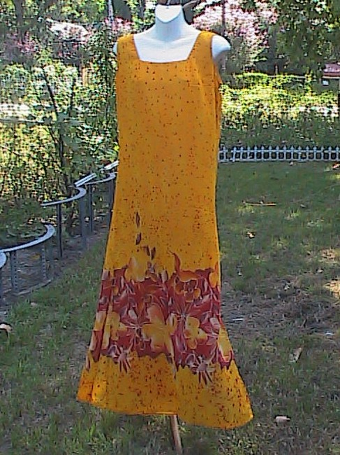 Orange/ FLoral Maxi Dress by Other Preowned Summer