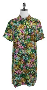 J.Crew short dress Floral Print Silk Short Sleeve on Tradesy