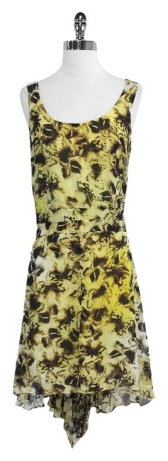 Preload https://img-static.tradesy.com/item/4680871/yellow-and-brown-butterfly-print-silk-mini-short-casual-dress-size-4-s-0-0-650-650.jpg