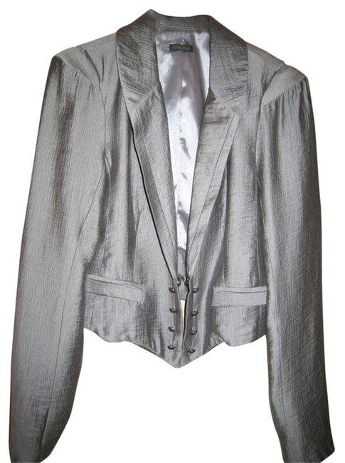 Storm Unique Style Fabric Silver Jacket