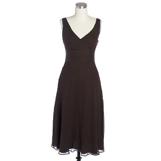 J.Crew Brown Traditional Bridesmaid/Mob Dress Size 0 (XS)