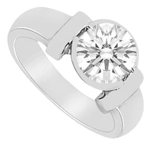 LoveBrightJewelry Two Carat Solitaire Ring with Triple AAA+ Quality Cubic Zirconia Bezel Set in 925 Sterling Silver